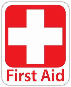 First AID Vinyl Sticker Decal Sign *4 SIZES* Red Cross ...