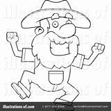 Prospector Cartoon Coloring Clipart Template Sketch sketch template