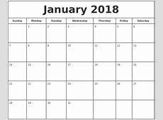 Printable Monthly Calendar 2018 Pdf journalingsagecom