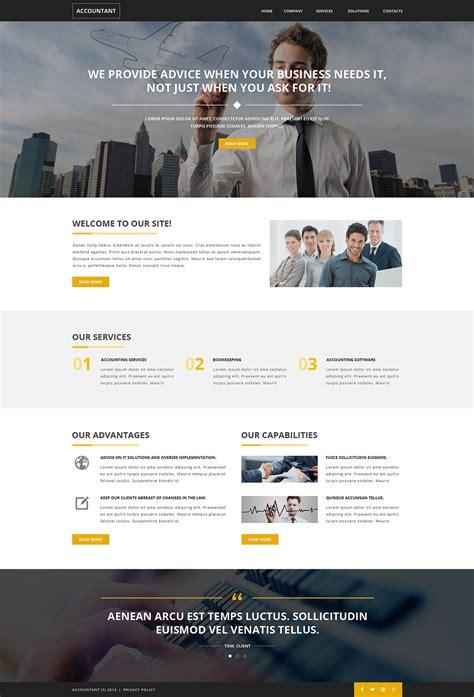 Bid Websites Accounting Website Responsive Website Template 51137