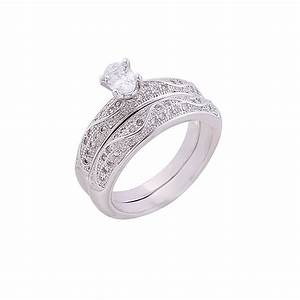 2017 wedding engagement ring white gold pair bridal With wedding rings for girlfriend