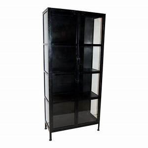Vitrinenschrank Glas Metall : filipstad sk p svart metall 9495 kr ~ Frokenaadalensverden.com Haus und Dekorationen