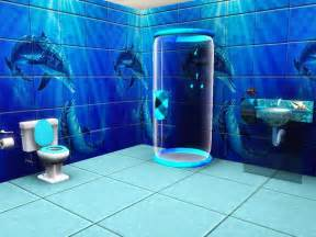 HD wallpapers blue bathroom accessories sets