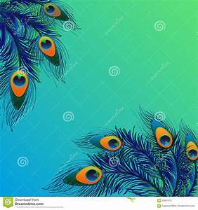Background Design With Peacock Feathers Stock Illustration ...