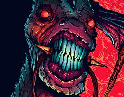 hyper horse illustration brock hofer   monster