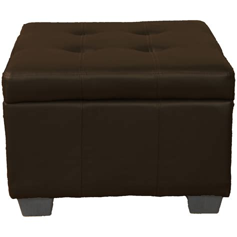 Padded Ottoman Storage Bench by 24 Quot X 24 Quot X 18 Quot High Tufted Padded Hinged Storage Ottoman