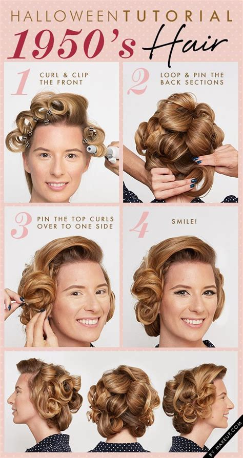 1950s Hairstyle Tutorial by Tutorial 1950 S Makeup