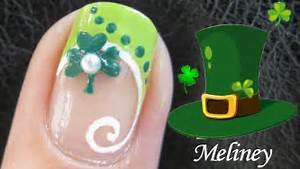 Nail tutorial st patrick s day art design easy simple