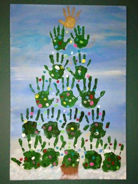 hand print diy christmas deko fenster geschenk basteln