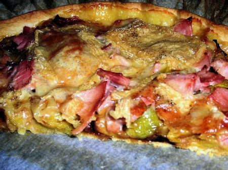 tarte au maroille pate brisee tarte maroilles et poireaux