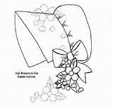Easter Bonnet Colouring sketch template