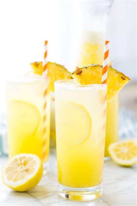 pineapple ginger lemonade strawberry blondie kitchen