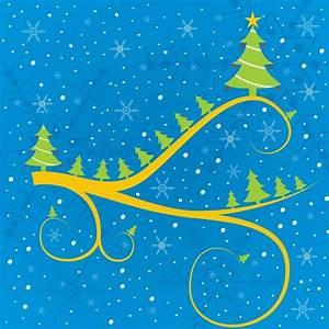 Abstract christmas tree greeting card Vector
