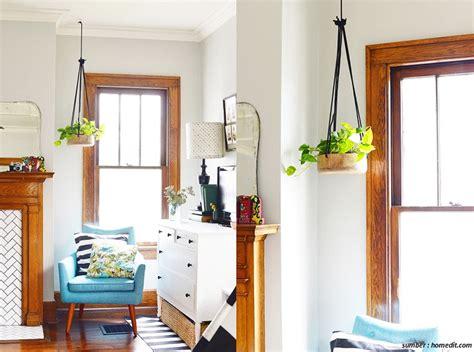 diy pot gantung minimalis tanaman hias rumah