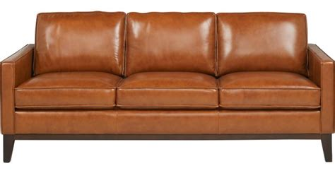 greenwich sienna brown leather sofa classic contemporary
