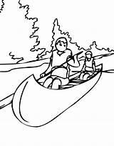 Canoe Coloring Drawing Paddle Boat Pollution Silhouette Sketch Colouring Getdrawings Cycle Nicki Minaj Drawings Printable Incredible Designlooter sketch template