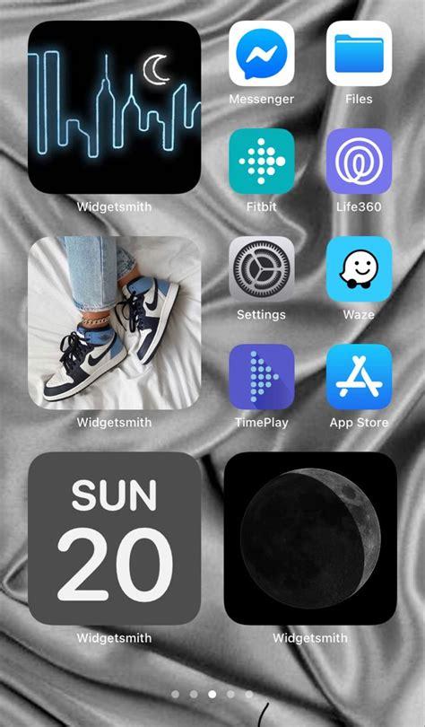blue ios14 aesthetic ios app iphone homescreen iphone