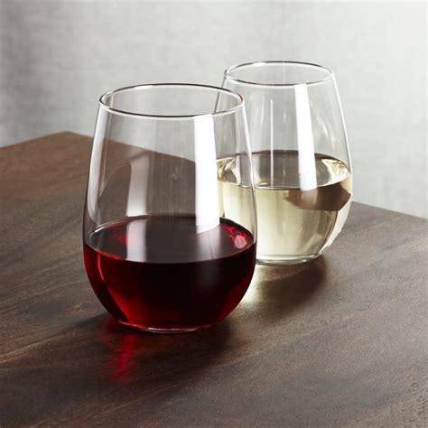 stemless wine glasses crate  barrel