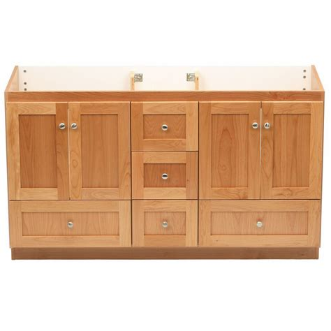 shaker vanity cabinets simplicity by strasser shaker 60 in w x 21 in d x 34 5