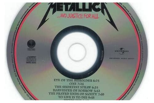 download cd metallica and justice for all