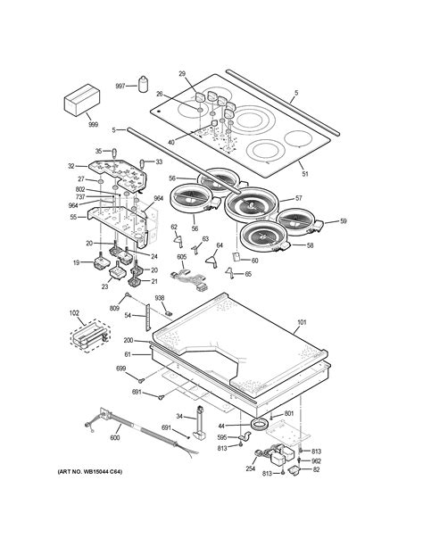 ge ppsjss electric cooktop parts sears partsdirect