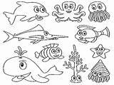Aquarium Coloring Pages Ocean Animal Printable Sea Getcolorings Colorin sketch template