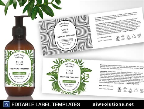 tropical label template id aiwsolutions