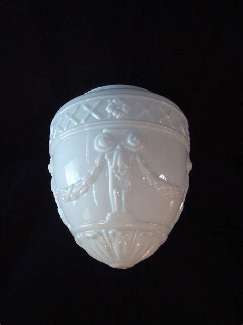 antique l shade replacements vintage art deco teardrop milk glass l ceiling light