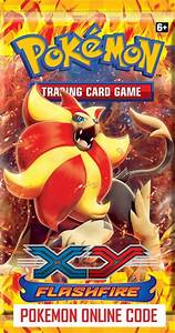 POKEMON XY02 X&Y FLASHFIRE SET ONLINE BOOSTER PACK CODE ...
