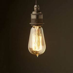 Handheld Globe Light Edison Style Light Bulb E27 Bronze Fitting