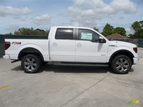 ford truck white oxford white 2012 ford f150 fx4 supercrew 4x4 exterior