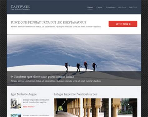 captivate templates captivate website template free website templates os templates