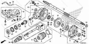 Honda Atv 2016 Oem Parts Diagram For Rear Final Gear