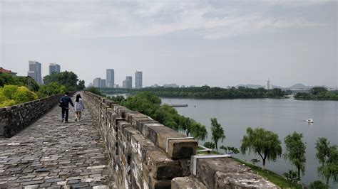 xuanwu lake   city walls nanjing visions  travel