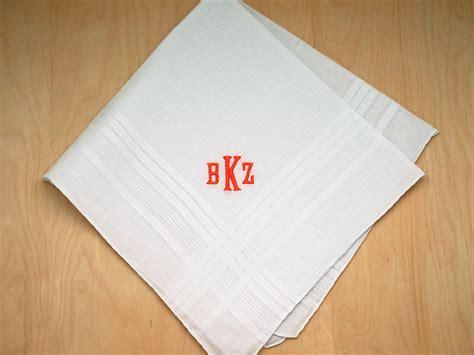 image gallery monogrammed handkerchiefs mens monogrammed wedding hankie w 3 initials font e