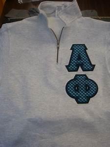 alpha phi letters on a quarter zip sweatshirt greek With quarter zip greek letters