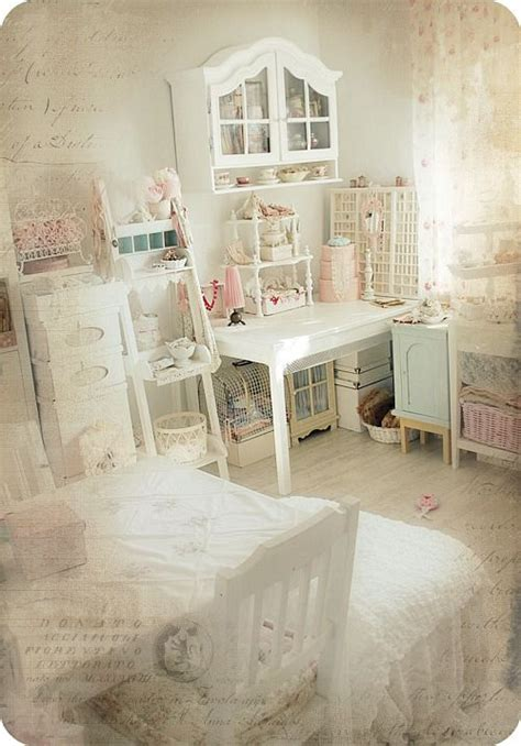 shabby chic craft room this is in german but i could drool