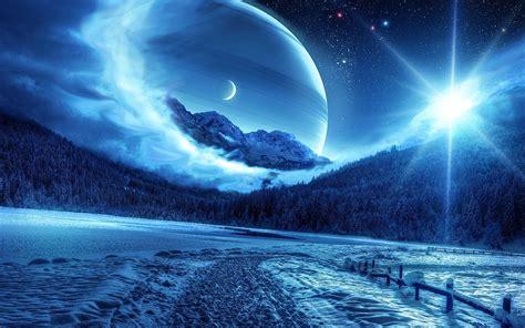 Background Hd by Winter Sun Moon Hd Desktop Background Wide