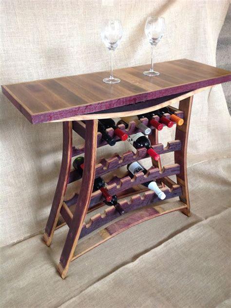 wine barrel stave wine  port rack table homemydesign