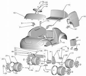 Power Wheels Walmart Barbie Vw Blitz Parts