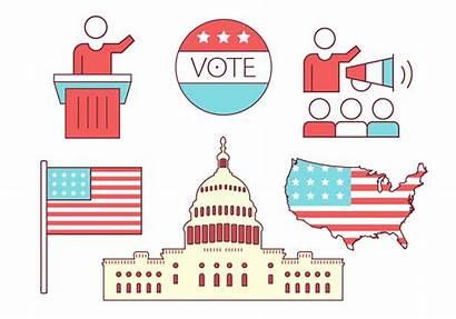 Politics Icons Vector Political Clipart Graphics System