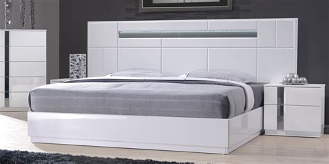 monte carlo king size white lacquer chrome pc bedroom