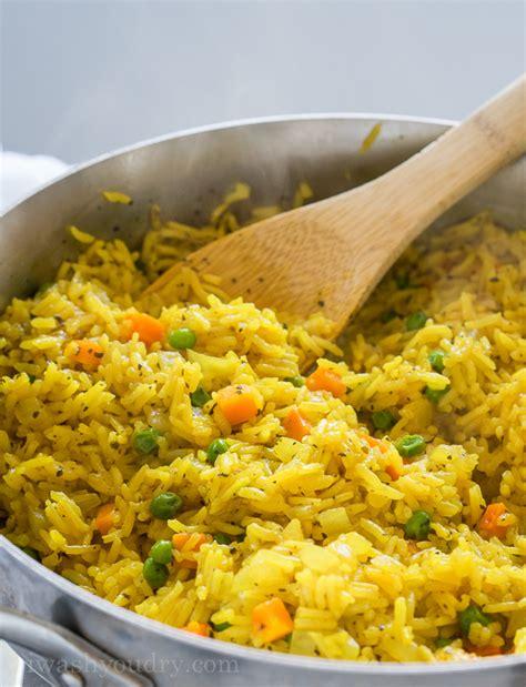 easy vegetable rice pilaf i wash you dry