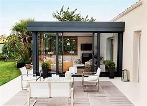 Prix Véranda 10m2 : extension de maison avec isolation thermique v randa rideau ~ Premium-room.com Idées de Décoration