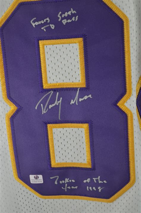 Lot Detail Randy Moss Autographed Multi Inscribed