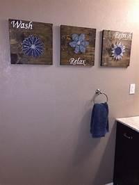bathroom wall decor ideas DIY Bathroom Wall Art - String Art to Add a Pop of Color! | Hometalk