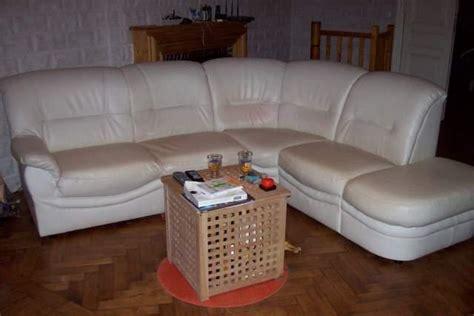 canapé prix cassé canapé d 39 angle en simili cuir blanc cassé nord