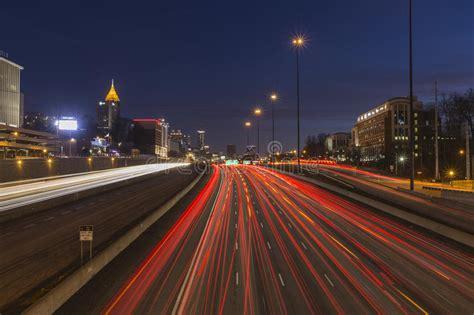 Atlanta Interstate 85 Freeway Night Editorial Photography ...