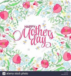 Happy mothers day card. Bright spring concept illustration ...