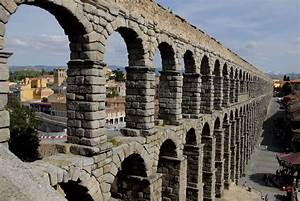 The Roman Aqueduct at Segovia is one of the best preserved ...